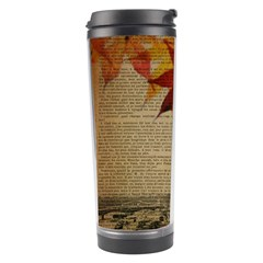 Elegant Fall Autumn Leaves Vintage Paris Eiffel Tower Landscape Travel Tumbler