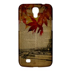 Elegant Fall Autumn Leaves Vintage Paris Eiffel Tower Landscape Samsung Galaxy Mega 6 3  I9200