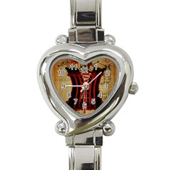 Black Red Corset Vintage Lily Floral Shabby Chic French Art Heart Italian Charm Watch