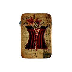 Black Red Corset Vintage Lily Floral Shabby Chic French Art Apple Ipad Mini Protective Soft Case