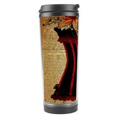 Black Red Corset Vintage Lily Floral Shabby Chic French Art Travel Tumbler