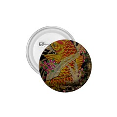 Funky Japanese Tattoo Koi Fish Graphic Art 1 75  Button