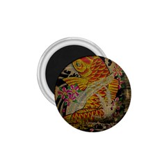 Funky Japanese Tattoo Koi Fish Graphic Art 1.75  Button Magnet