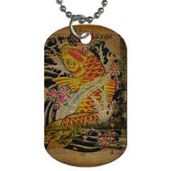 Funky Japanese Tattoo Koi Fish Graphic Art Dog Tag (one Sided)