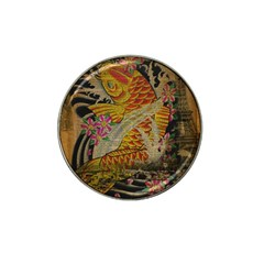 Funky Japanese Tattoo Koi Fish Graphic Art Golf Ball Marker (for Hat Clip)