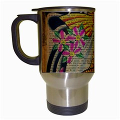 Funky Japanese Tattoo Koi Fish Graphic Art Travel Mug (White)