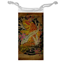 Funky Japanese Tattoo Koi Fish Graphic Art Jewelry Bag