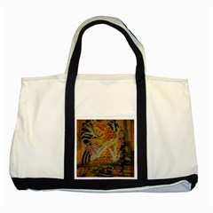Funky Japanese Tattoo Koi Fish Graphic Art Two Toned Tote Bag