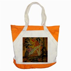Funky Japanese Tattoo Koi Fish Graphic Art Accent Tote Bag