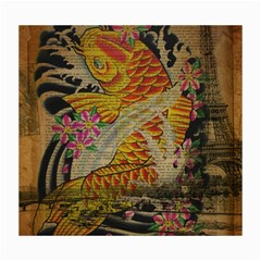 Funky Japanese Tattoo Koi Fish Graphic Art Canvas 16  x 20  (Unframed)