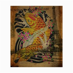 Funky Japanese Tattoo Koi Fish Graphic Art Canvas 20  x 24  (Unframed)
