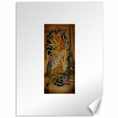 Funky Japanese Tattoo Koi Fish Graphic Art Canvas 36  x 48  (Unframed)