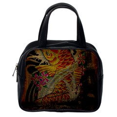 Funky Japanese Tattoo Koi Fish Graphic Art Classic Handbag (One Side)