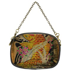 Funky Japanese Tattoo Koi Fish Graphic Art Chain Purse (two Sided)