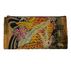 Funky Japanese Tattoo Koi Fish Graphic Art Pencil Case