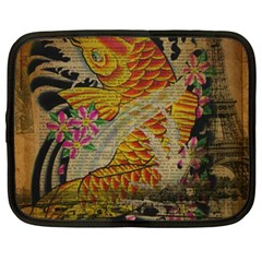 Funky Japanese Tattoo Koi Fish Graphic Art Netbook Case (XL)