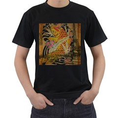 Funky Japanese Tattoo Koi Fish Graphic Art Mens' T Shirt (black)