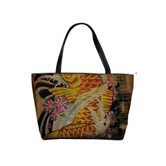 Funky Japanese Tattoo Koi Fish Graphic Art Large Shoulder Bag
