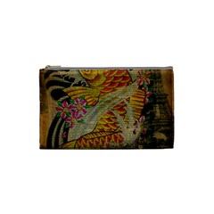 Funky Japanese Tattoo Koi Fish Graphic Art Cosmetic Bag (Small)