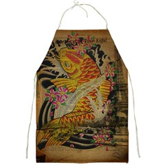 Funky Japanese Tattoo Koi Fish Graphic Art Apron