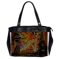 Funky Japanese Tattoo Koi Fish Graphic Art Oversize Office Handbag (one Side)