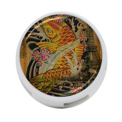 Funky Japanese Tattoo Koi Fish Graphic Art 4-Port USB Hub (One Side)