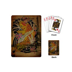 Funky Japanese Tattoo Koi Fish Graphic Art Playing Cards (Mini)