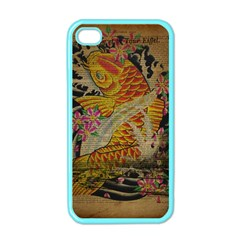 Funky Japanese Tattoo Koi Fish Graphic Art Apple Iphone 4 Case (color)