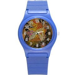 Funky Japanese Tattoo Koi Fish Graphic Art Plastic Sport Watch (Small)