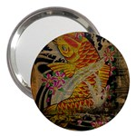 Funky Japanese Tattoo Koi Fish Graphic Art 3  Handbag Mirror Front