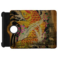 Funky Japanese Tattoo Koi Fish Graphic Art Kindle Fire Hd 7  Flip 360 Case