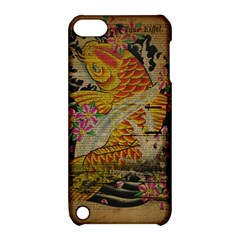 Funky Japanese Tattoo Koi Fish Graphic Art Apple iPod Touch 5 Hardshell Case with Stand