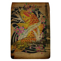 Funky Japanese Tattoo Koi Fish Graphic Art Removable Flap Cover (large)
