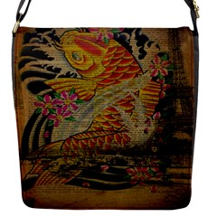 Funky Japanese Tattoo Koi Fish Graphic Art Removable Flap Cover (Small)