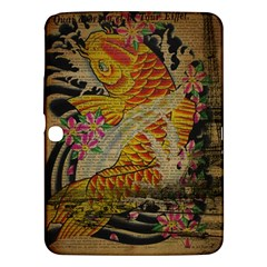 Funky Japanese Tattoo Koi Fish Graphic Art Samsung Galaxy Tab 3 (10 1 ) P5200 Hardshell Case