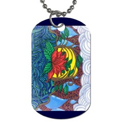 A Rose Dog Tag (one Sided)