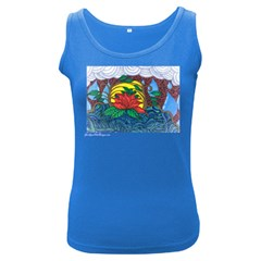 A Rose Womens  Tank Top (dark Colored)