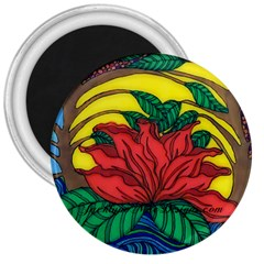 A Rose 3  Button Magnet