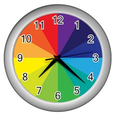 Colorful Wall Clock (silver)