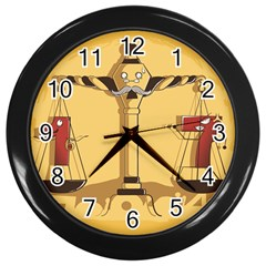 Oddly Even Wall Clock (black)