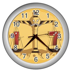 Oddly Even Wall Clock (Silver)