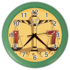 Oddly Even Wall Clock (color)