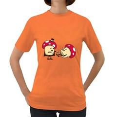 Magic Mushrooms Womens' T-shirt (Colored)