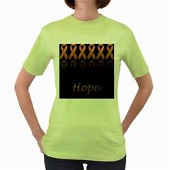 Hope Womens  T-shirt (Green)
