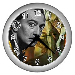 Dali s Whiskers Wall Clock (silver)