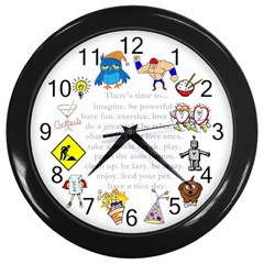 Daily Routine Wall Clock (black)