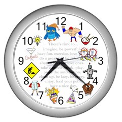 Daily Routine Wall Clock (silver)