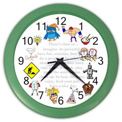Daily Routine Wall Clock (color)