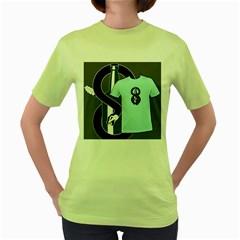 Snake Brew Womens  T Shirt (green)