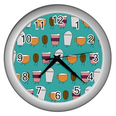 Time For Coffee Wall Clock (silver)